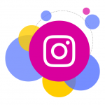 instagram ikon buborék